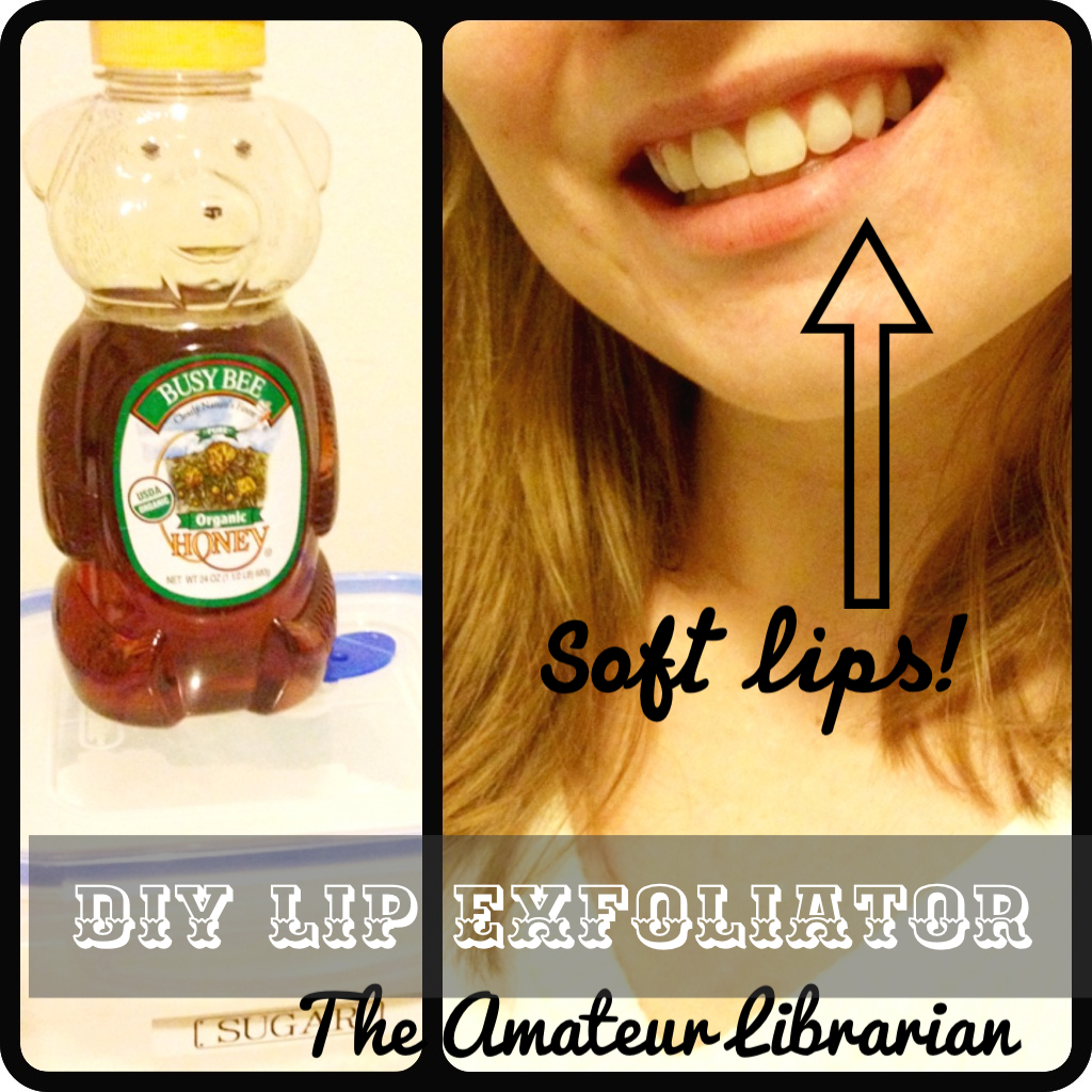 project pinterest diy lip exfoliator the amateur librarian. Black Bedroom Furniture Sets. Home Design Ideas