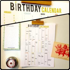 The Amateur Librarian - Printable Birthday Calendar