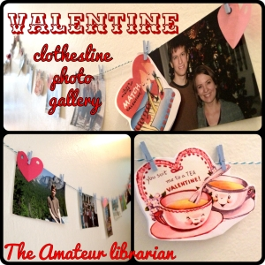 Vintage Valentine Banner // The Amateur Librarian
