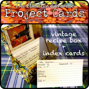 The Amateur Librarian // Project Cards