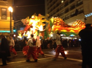 The grand finale dragon - soooo long!  There must have been at least 50 people carrying the body.