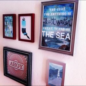 The Amateur Librarian // Nautical Art Wall