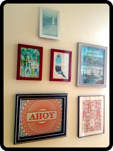 The Amateur Librarian // Nautical Art Wall