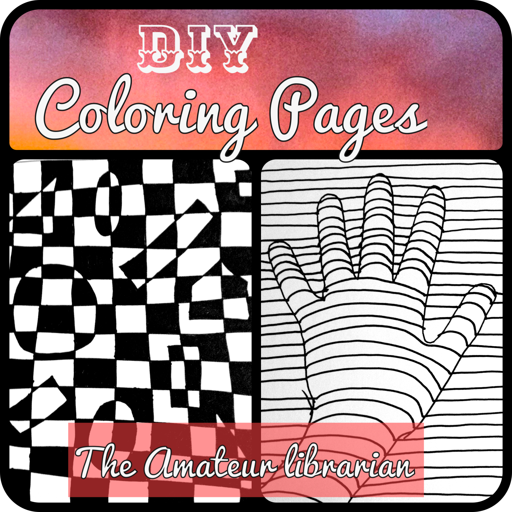 Project Pinterest: DIY Coloring Pages, Optical Illusion Edition ...