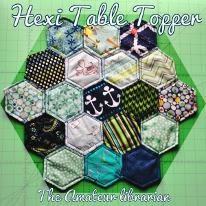 The Amateur Librarian // Hexi Table Topper