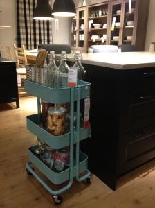 I looooove this kitchen cart for craft storage!