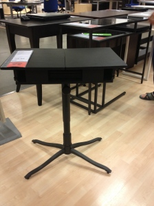 Love this laptop table with hidden storage