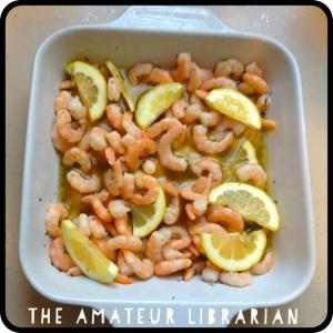 The Amateur Librarian // Roasted Lemon Garlic Herb Shrimp