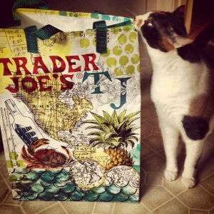 We got a new Trader Joe's a block away!  Even Cora is excited.