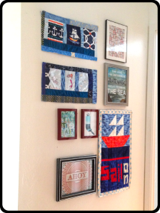 The Amateur Librarian // Nautical Collage Wall