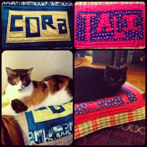 New cat mats for Cora and Tali!