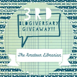 The Amateur Librarian //3rd Blogiversary Giveaway