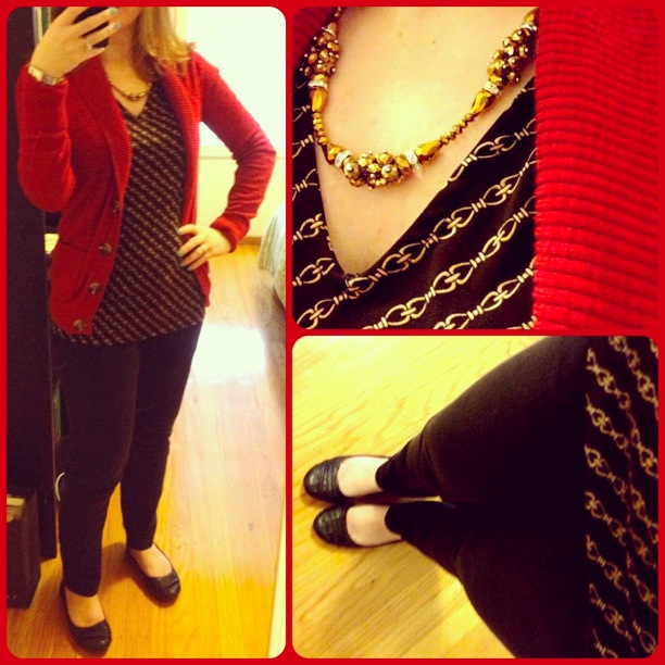 The Amateur Librarian // One Piece, Many Ways: Red Cardigan