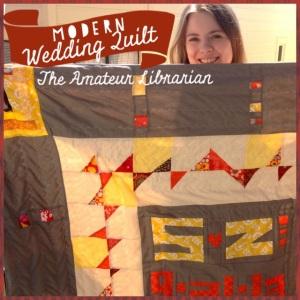 The Amateur Librarian // Modern Wedding Quilt