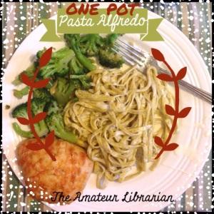 The Amateur Librarian // One Pot Alfredo Pasta