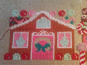 The Amateur Librarian // Gingerbread Lane Cross Stitch