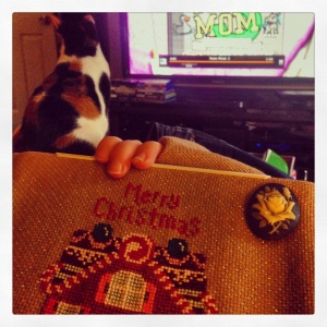 Guilty pleasure TV is the best stitching background... yep, Cora watches Teen Mom too!