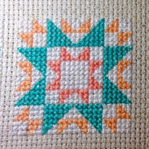 The Amateur Librarian // Quilty Stitches Sampler