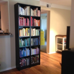 The Amateur Librarian // Project Pinterest: Organize Books in Color Order
