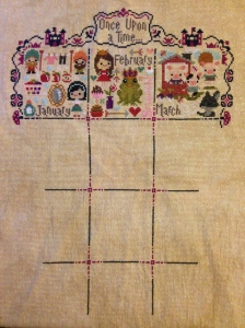 The Amateur Librarian // Once Upon a Time Cross Stitch Sampler