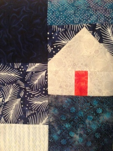 The Amateur Librarian // Hillside Houses Quilt