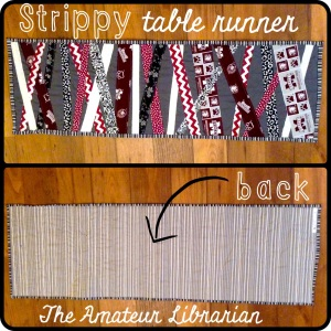 The Amateur Librarian // Strippy Table Runner