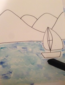 The Amateur Librarian // DIY Watercolor Sailboats