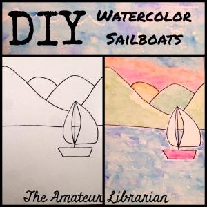 The Amateur Librarian // DIY Watercolor Sailboats