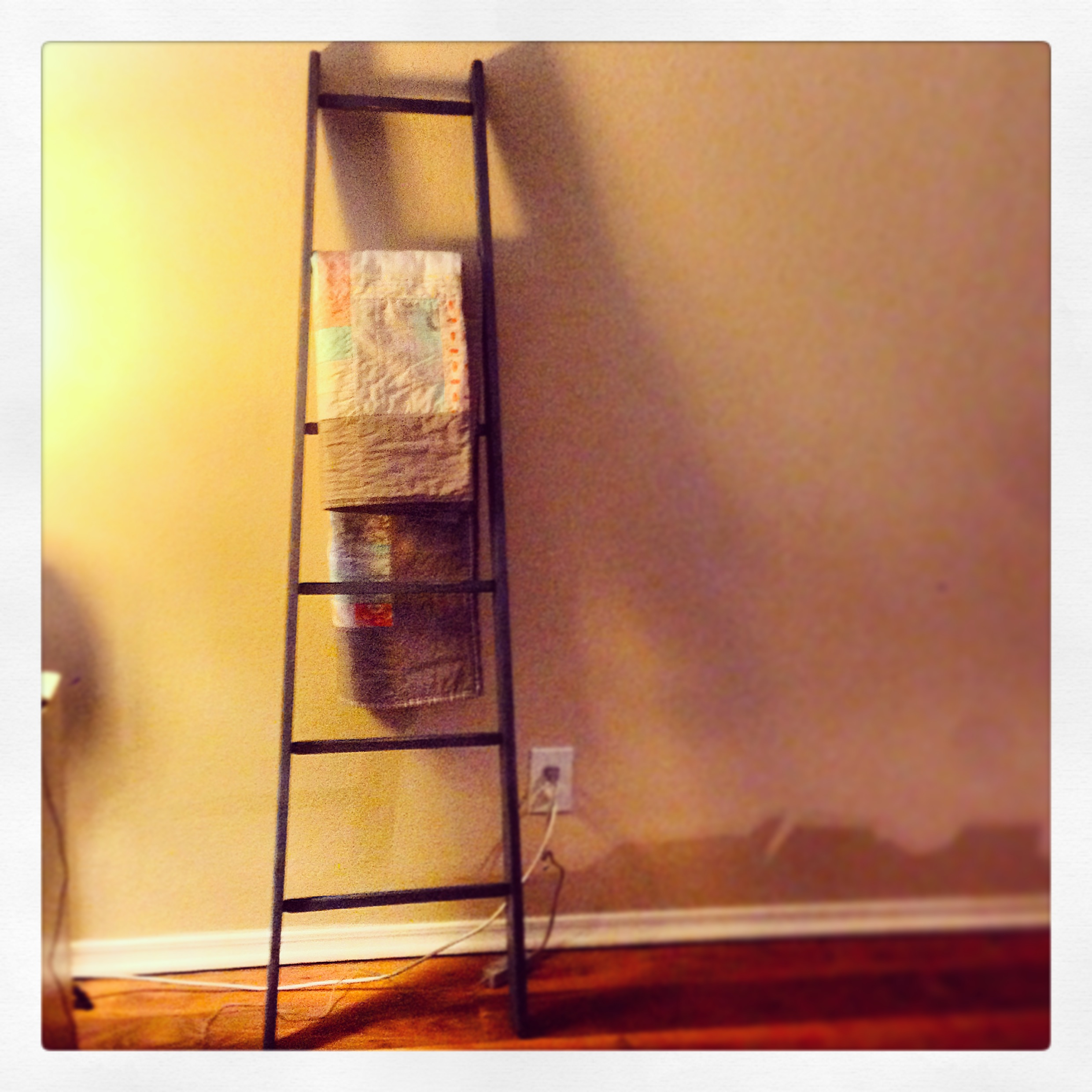 Project pinterest quilt ladder the amateur librarian for Ladder project