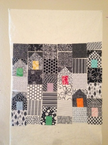 The Amateur Librarian // Little Houses mini quilt