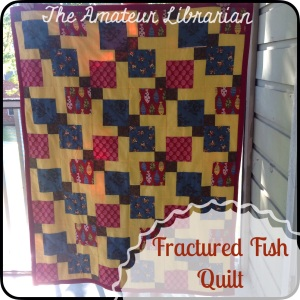 The Amateur Librarian // Fractured Fish Nine Patch Quilt