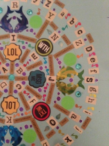 The Amateur Librarian // DIY Sticker Mandala
