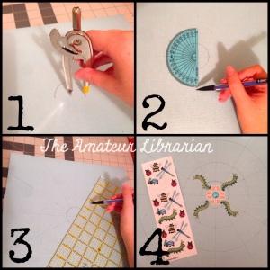 The Amateur Librarian // DIY Sticker Mandala