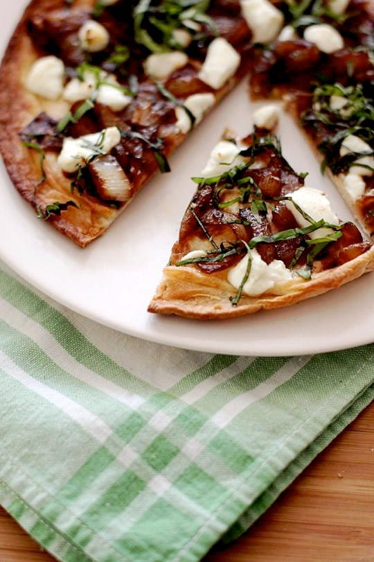 Project Pinterest Flatbread With Grapes Goat Cheese And