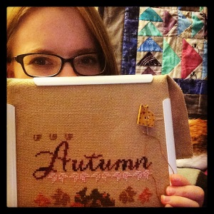 The Amateur Librarian // Autumn Harvest Festival Cross Stitch
