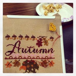 The Amateur Librarian // Autumn Harvest Festival Cross Stitch