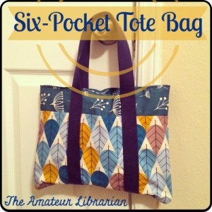 The Amateur Librarian // Six Pocket Tote Bag