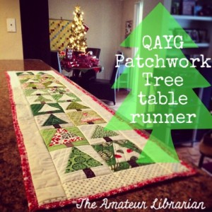 The Amateur Librarian // QAYG Patchwork Tree Table Topper