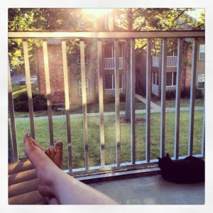 I miss hanging out on the porch, now that it's too cold!