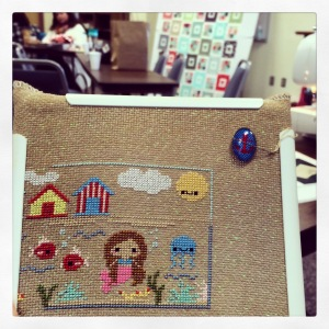 The Amateur Librarian // Greetings from the Beach Cross Stitch