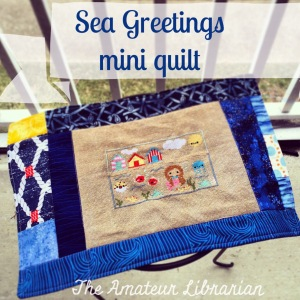 The Amateur Librarian // Sea Greetings Mini Quilt