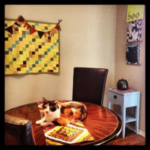 Seasonal decor - Cora's a fan!