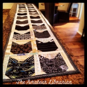 The Amateur Librarian // QAYG Black Cat Table Runner
