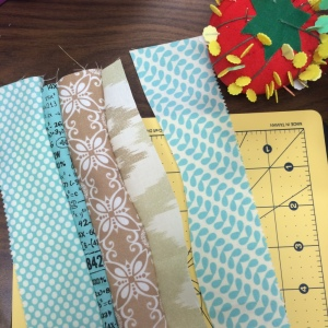 The Amateur Librarian // Improv Curves Mini Quilt