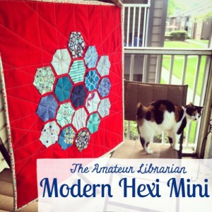 The Amateur Librarian // Modern Hexi Mini Quilt