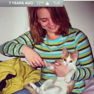 Let the Timehop begin... baby Rochester! (We housed him for a couple weeks in college before he went to his new home)