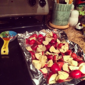 The Amateur Librarian // Quick & Easy Roasted Red Potatoes