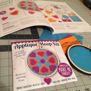 The Amateur Librarian // Applique Hoop