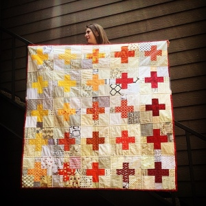 The Amateur Librarian // Low Volume Plus Swap Quilt
