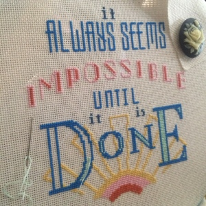 The Amateur Librarian // Impossible Cross Stitch